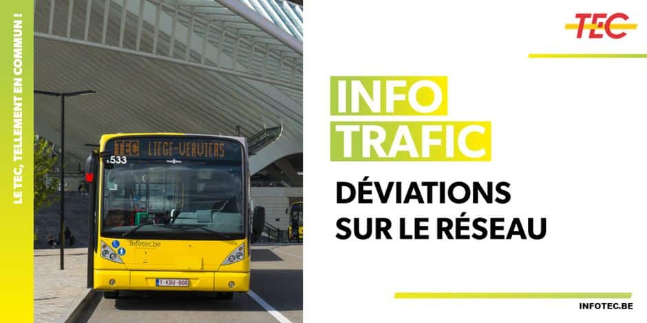 Liège: arrêt de bus reporté suite au placement d'une grue