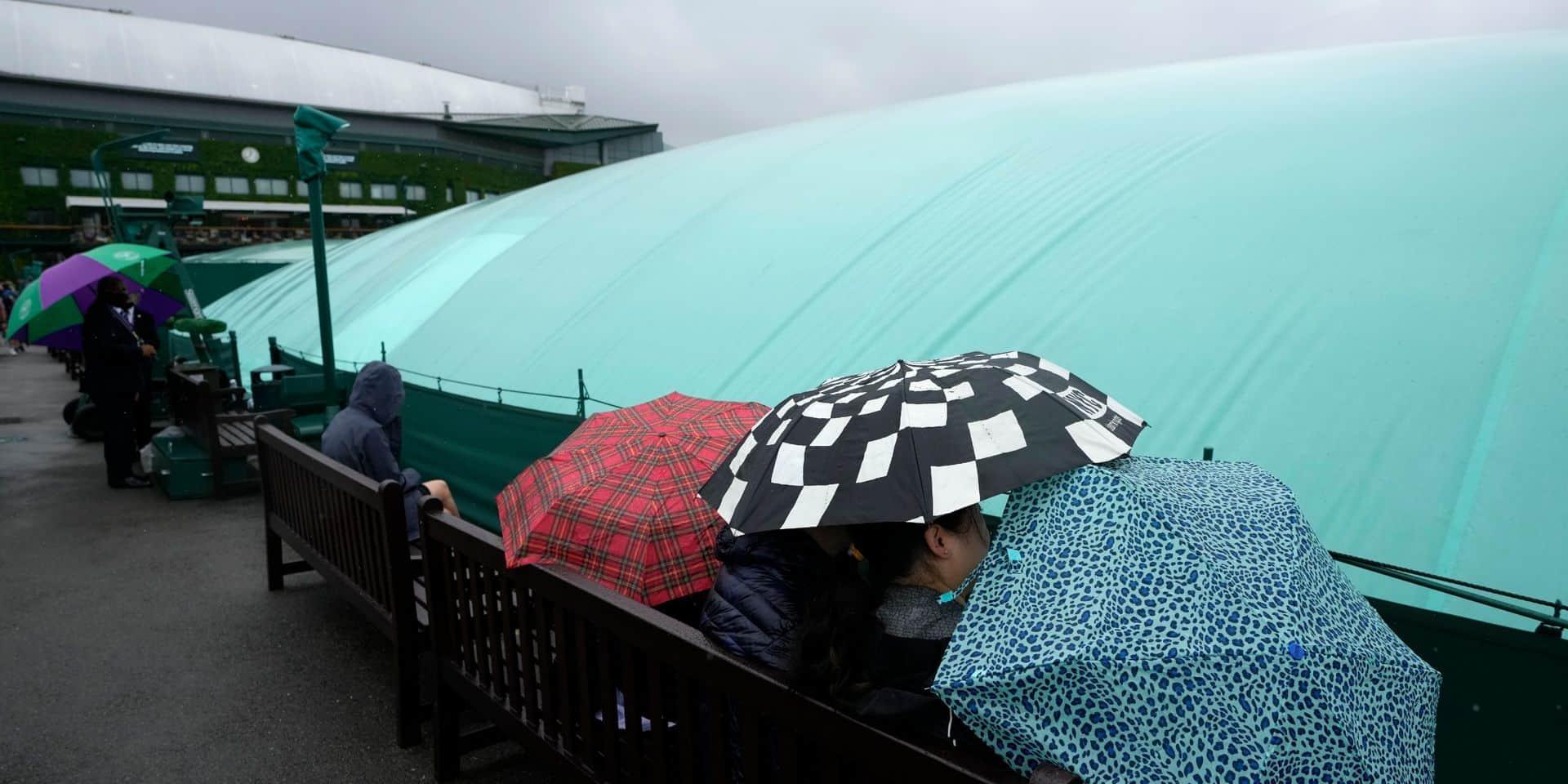 Wimbledon: Elise Mertens ne jouera pas lundi en raison de la pluie