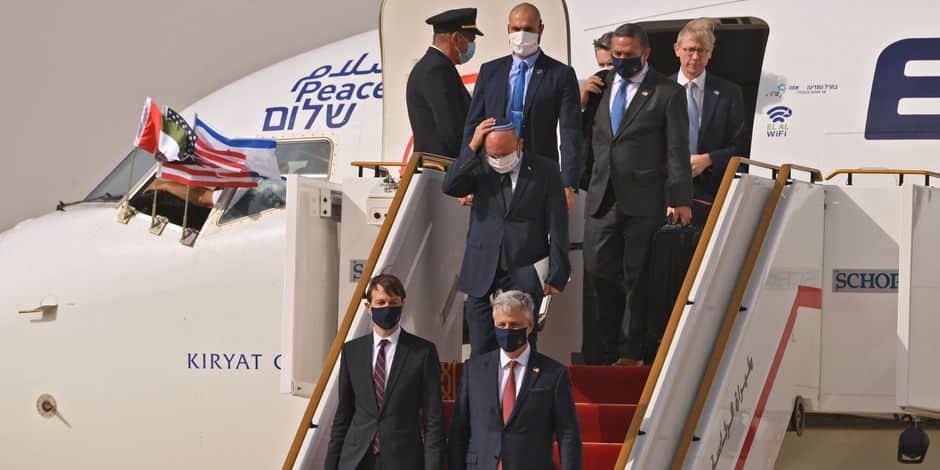 Une délégation israélo-américaine atterrit à Abou Dhabi après un vol historique (PHOTOS)
