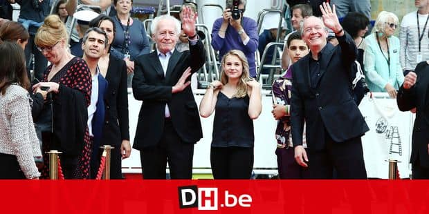 Directors Jean-Pierre Dardenne, from centre left, actors Victoria Bluck, Idir Ben Addi, and director Luc Dardenne pose for photographers upon arrival at the premiere of the film 'Young Ahmed' at the 72nd international film festival, Cannes, southern France, Monday, May 20, 2019. (Photo by Joel C Ryan/Invision/AP)