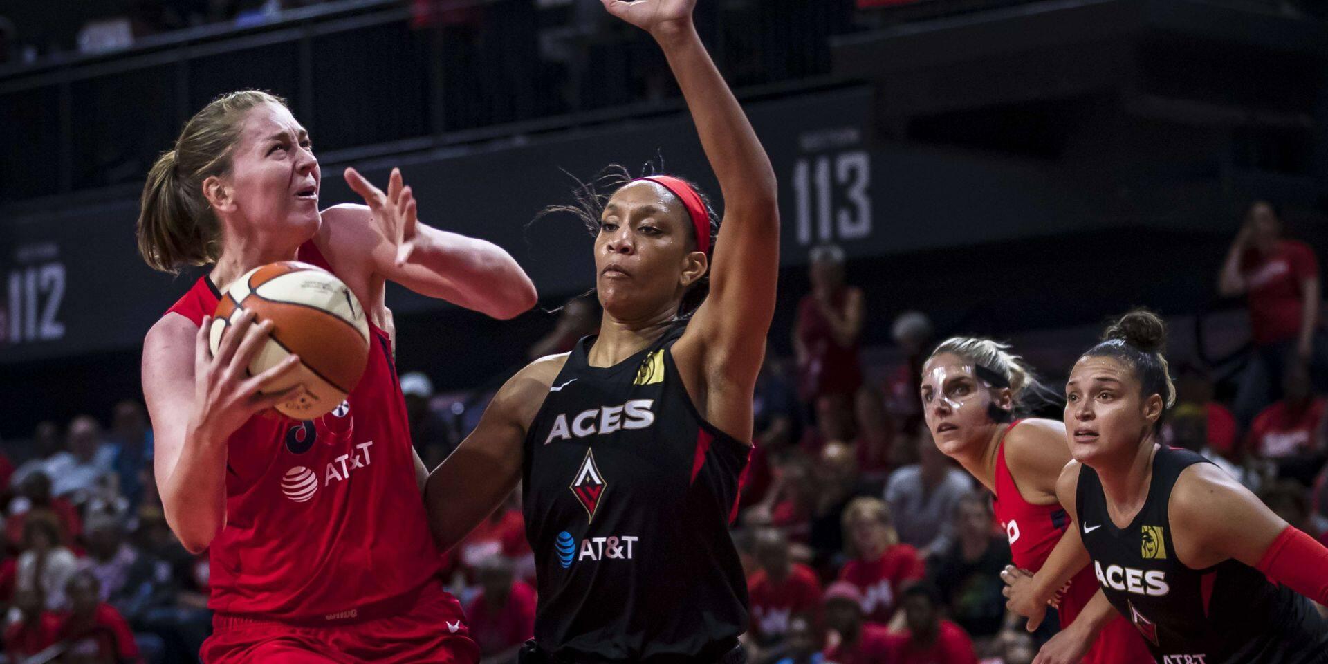 WNBA: Avec 27 pts et 10 rebonds d'Emma Meesseman, Washington Mystics mène 1 à 0 en demi-finales