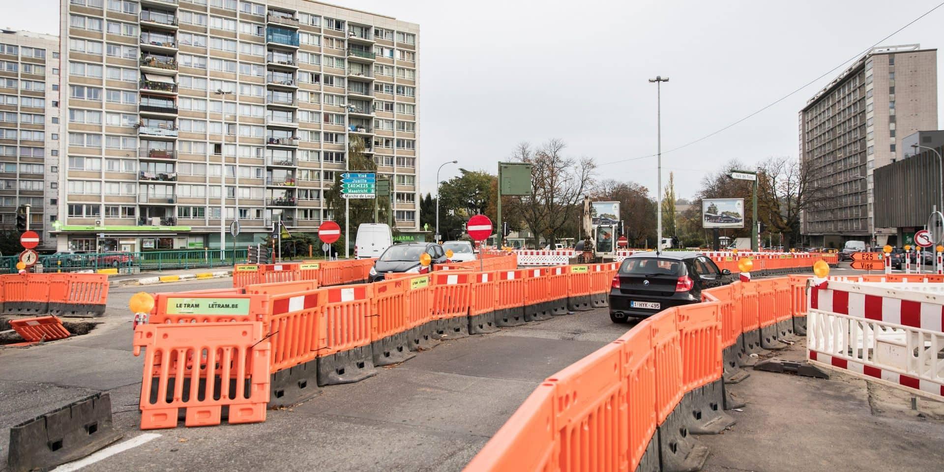 Tram de Liège : le pont Atlas fermé