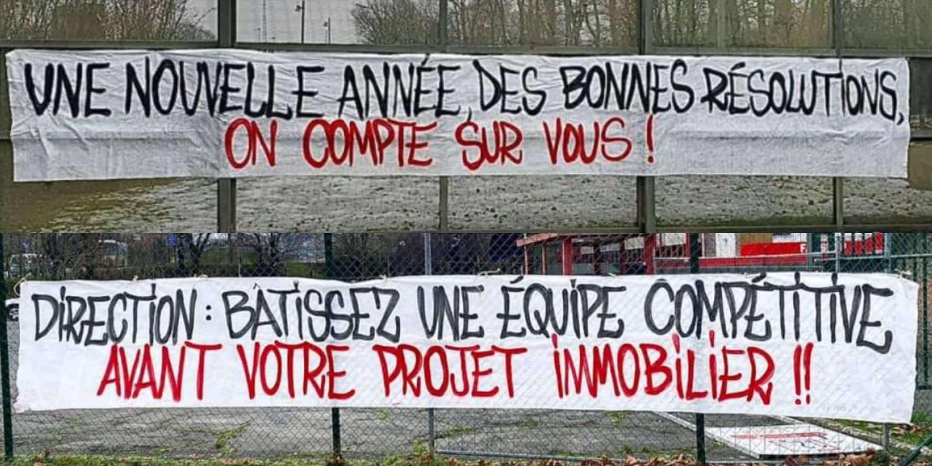 """""""Bâtissez une équipe compétitive"""": les supporters liégeois mettent la pression sur les dirigeants avant le premier match de Leye contre Waasland"""