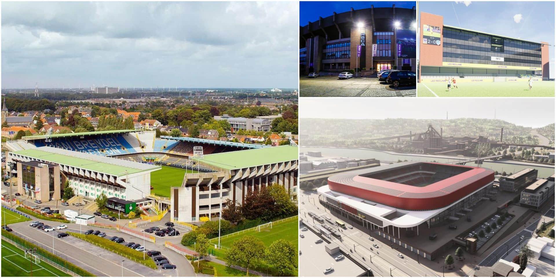 Stades belges: après l'annonce du Club Bruges, où en sont les autres clubs de Pro League ?