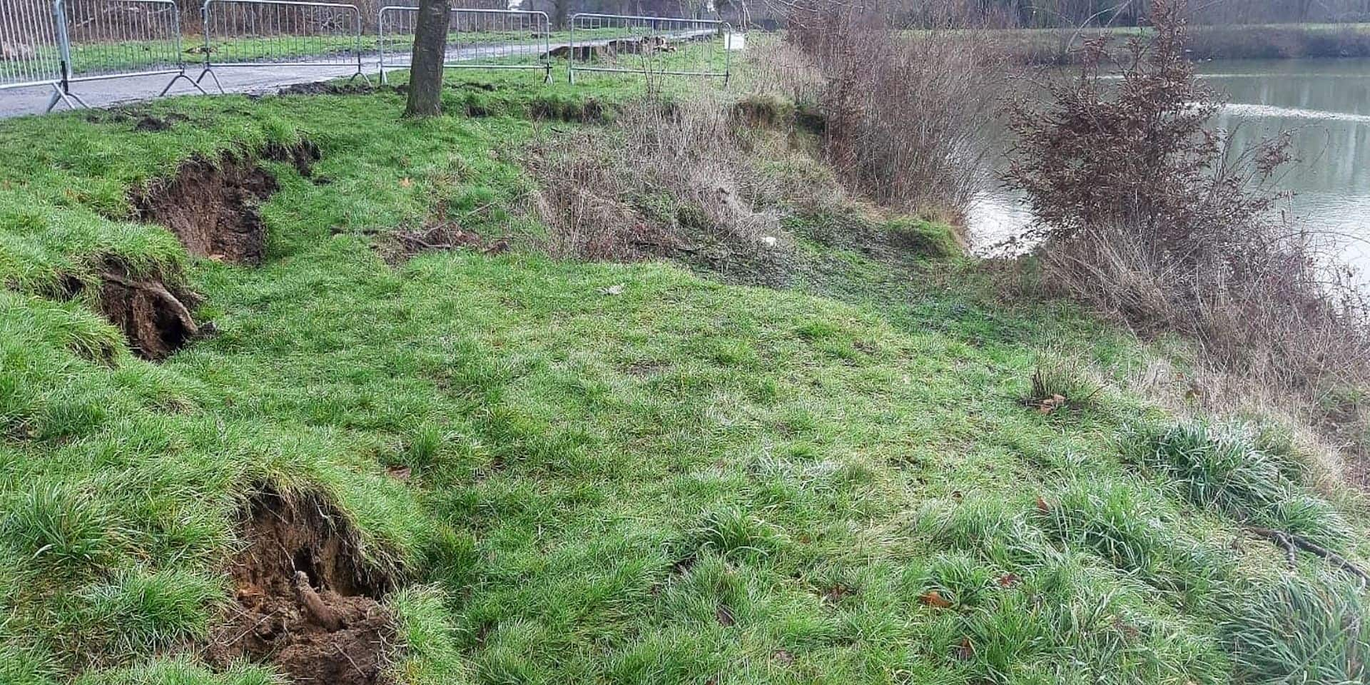 L'affaissement de terrain constaté vendredi dans le parc d'Enghien montre qu'il y a urgence à restaurer les berges de l'étang du Miroir.