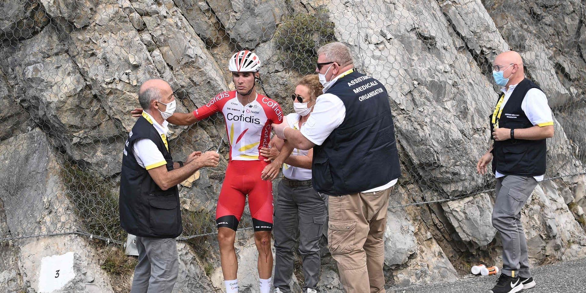 """L'accident de Perez """"aurait pu être dramatique"""", pour son directeur sportif chez Cofidis"""