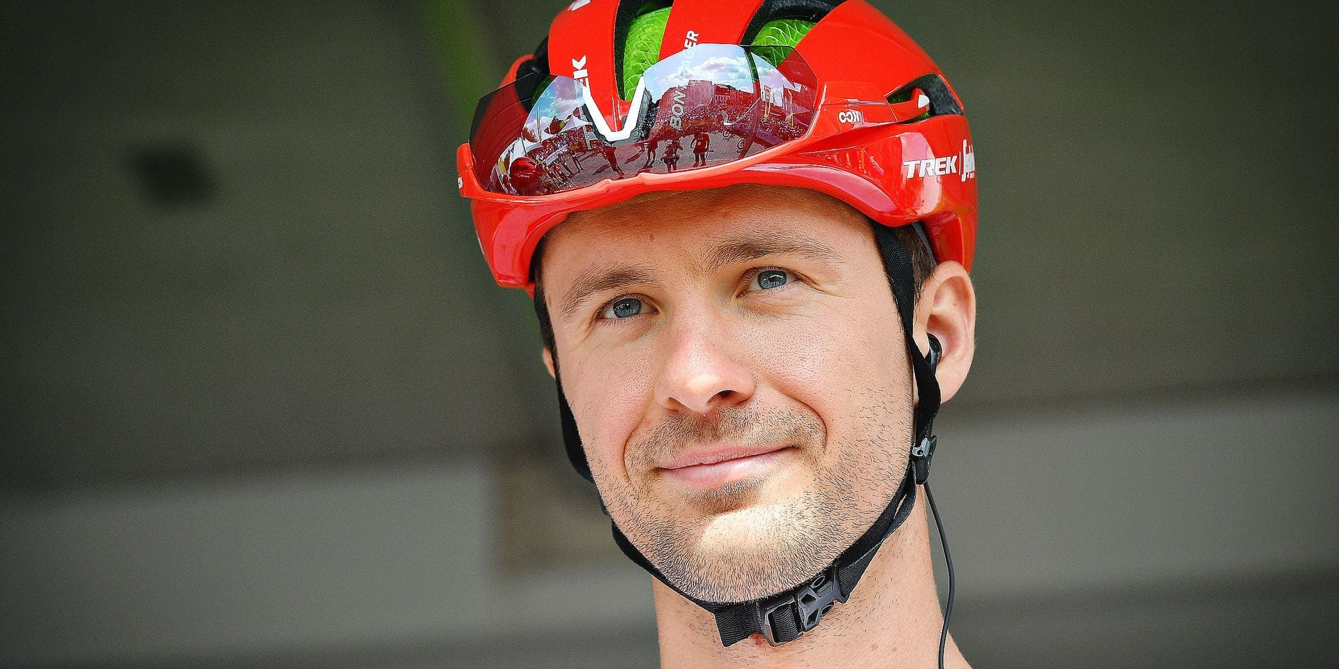 Belgian Edward Theuns of Trek-Segafredo pictured at the start of the first stage of the Binkcbank Tour cycling race, 167,2km km from Beveren (Belgium) to Hulst, the Netherlands, Monday 12 August 2019. BELGA PHOTO DAVID STOCKMAN