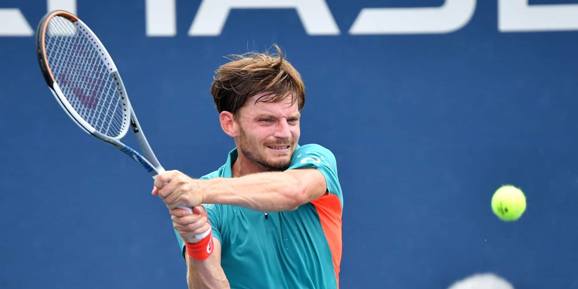 """David Goffin se hisse au troisième tour de l'US Open: """"J'ai réalisé ce qu'il fallait"""""""