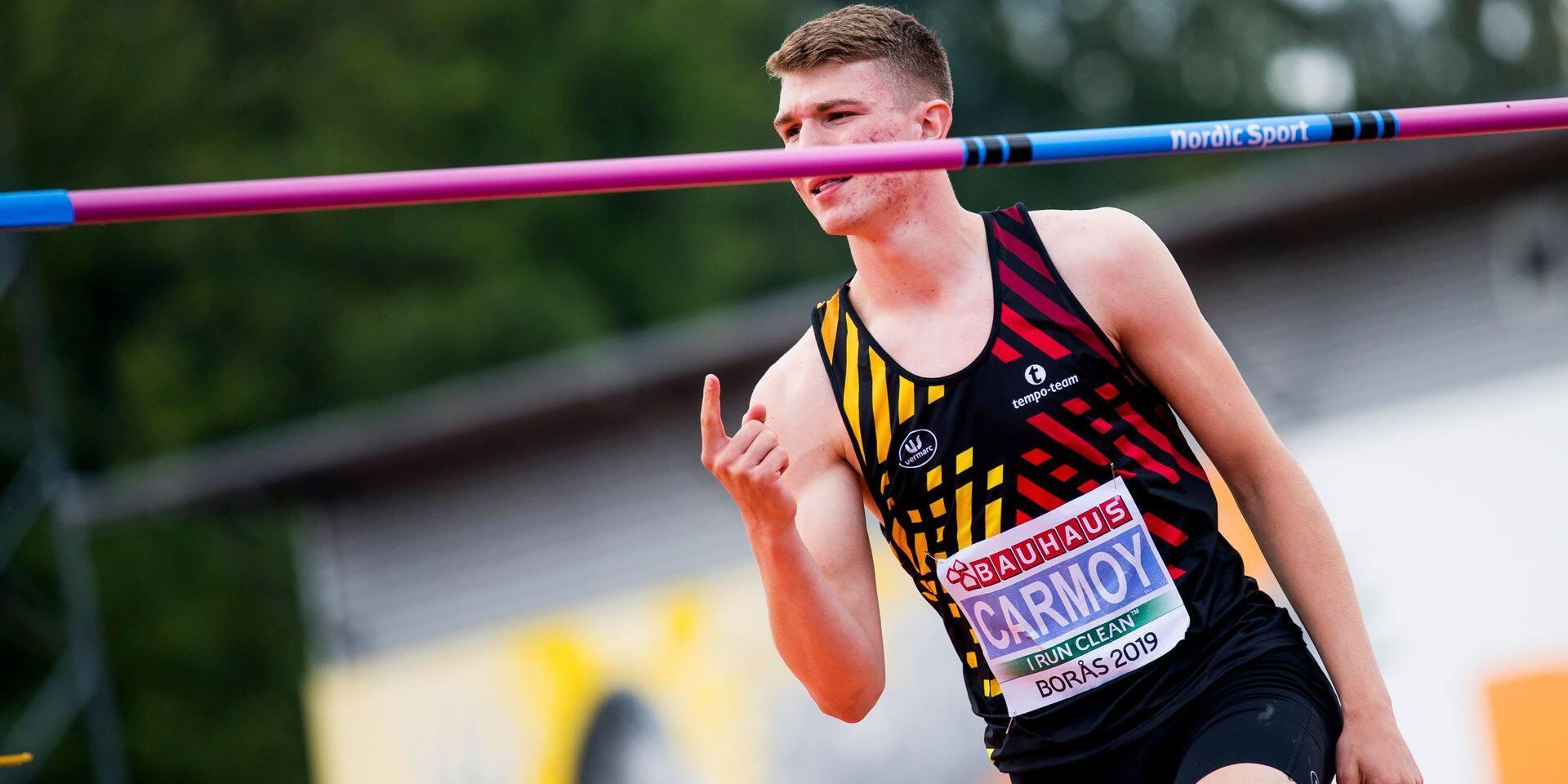 Thomas Carmoy champion d'Europe U20 en hauteur, Vekemans en bronze à la perche