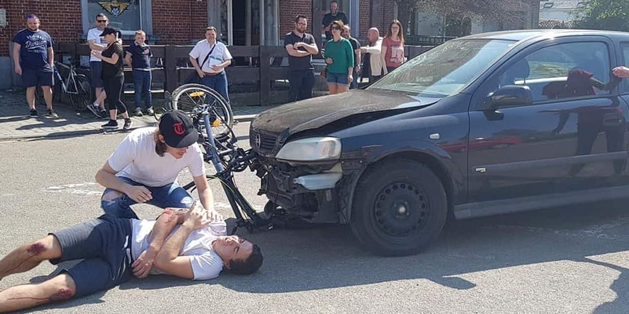 Ecaussinnes: un cycliste renversé par une voiture... pour sensibiliser les automobilistes