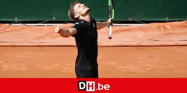 Belgian David Goffin celebrates after winning the continuation of the tennis match between Belgian David Goffin (ATP 9) and French Gael Monfils (ATP 37) in the third round of the men's singles at the Roland Garros French Open tennis tournament, in Paris, France, Saturday 02 June 2018. The main draw of this year's Roland Garros Grand Slam takes place from 27 May to 10 June. BELGA PHOTO BENOIT DOPPAGNE