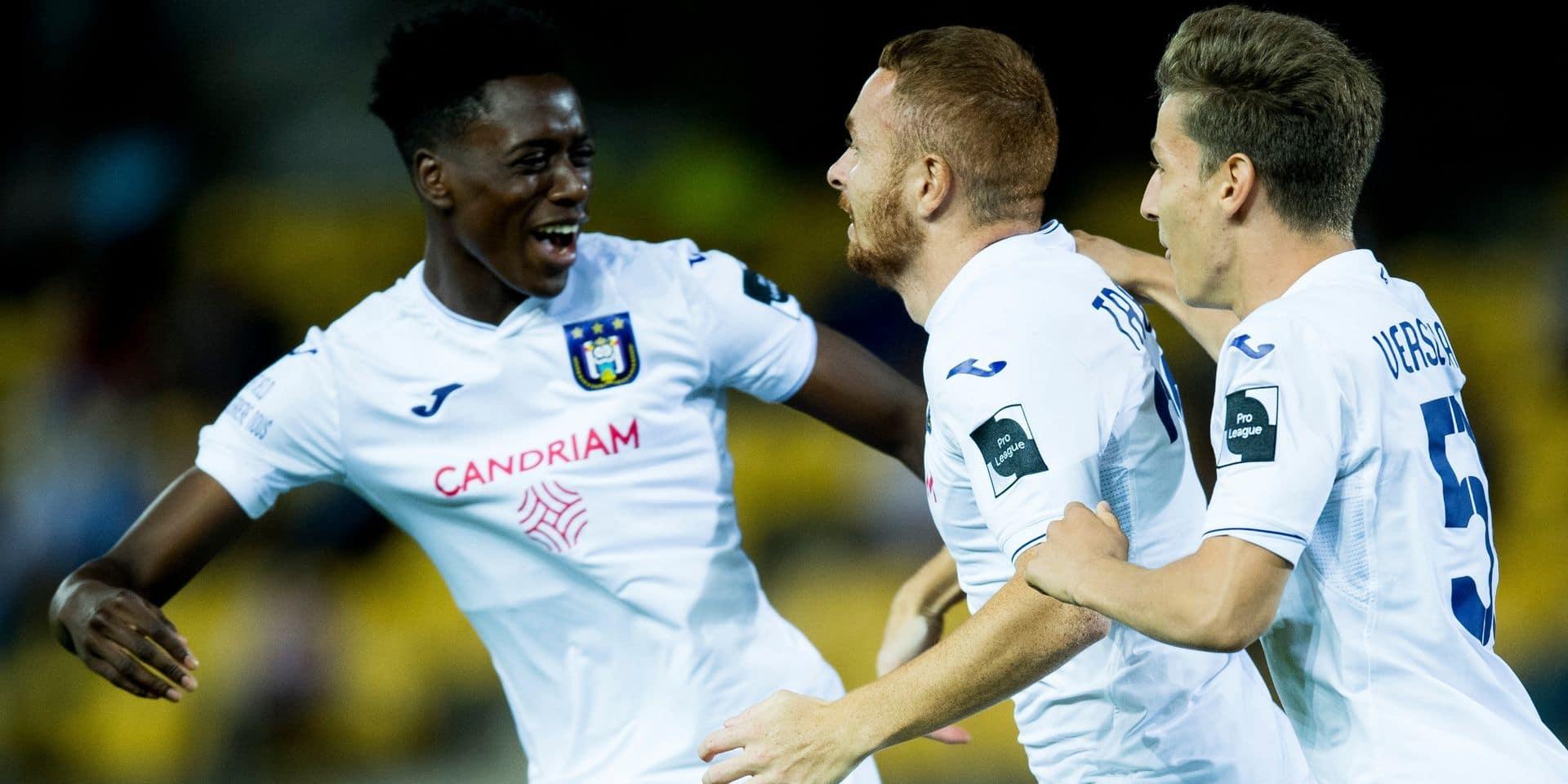 Anderlecht domine largement Waasland-Beveren mais se relâche en fin de match (2-4)
