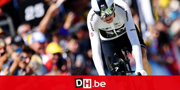 British Chris Froome of Team Sky crosses the finish line of the third stage of the 105th edition of the Tour de France cycling race, a team time trial (35,5km) from Cholet to Cholet, France, Monday 09 July 2018. This year's Tour de France takes place from July 7th to July 29th. BELGA PHOTO DAVID STOCKMAN