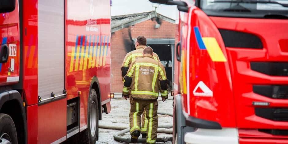 Modave : Le feu de cheminée se transmet à la toiture