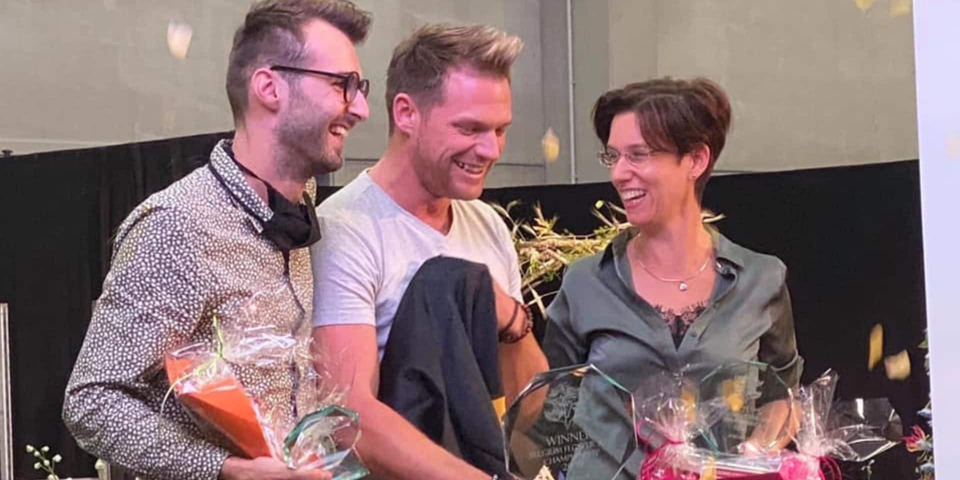 Vielsalm : Chantal Post, médaille d'argent au championnat belge d'Art Floral !