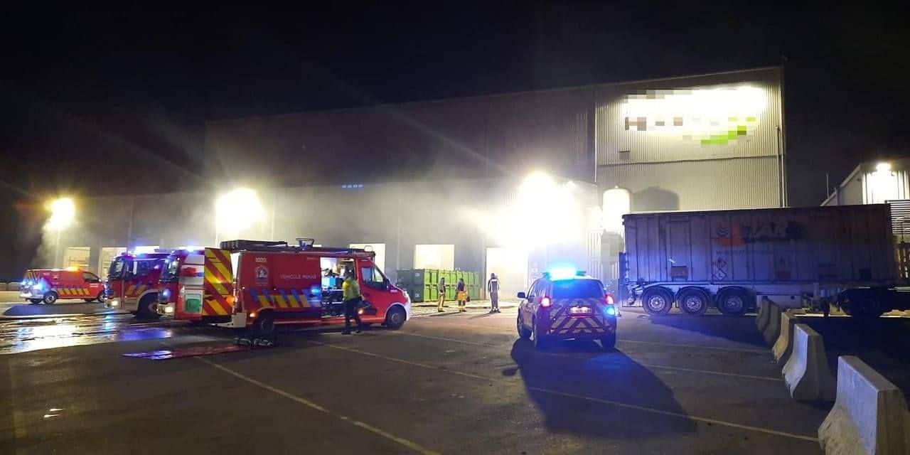 Incendie cette nuit chez Recyfuel à Engis, une entreprise de recyclage de déchets