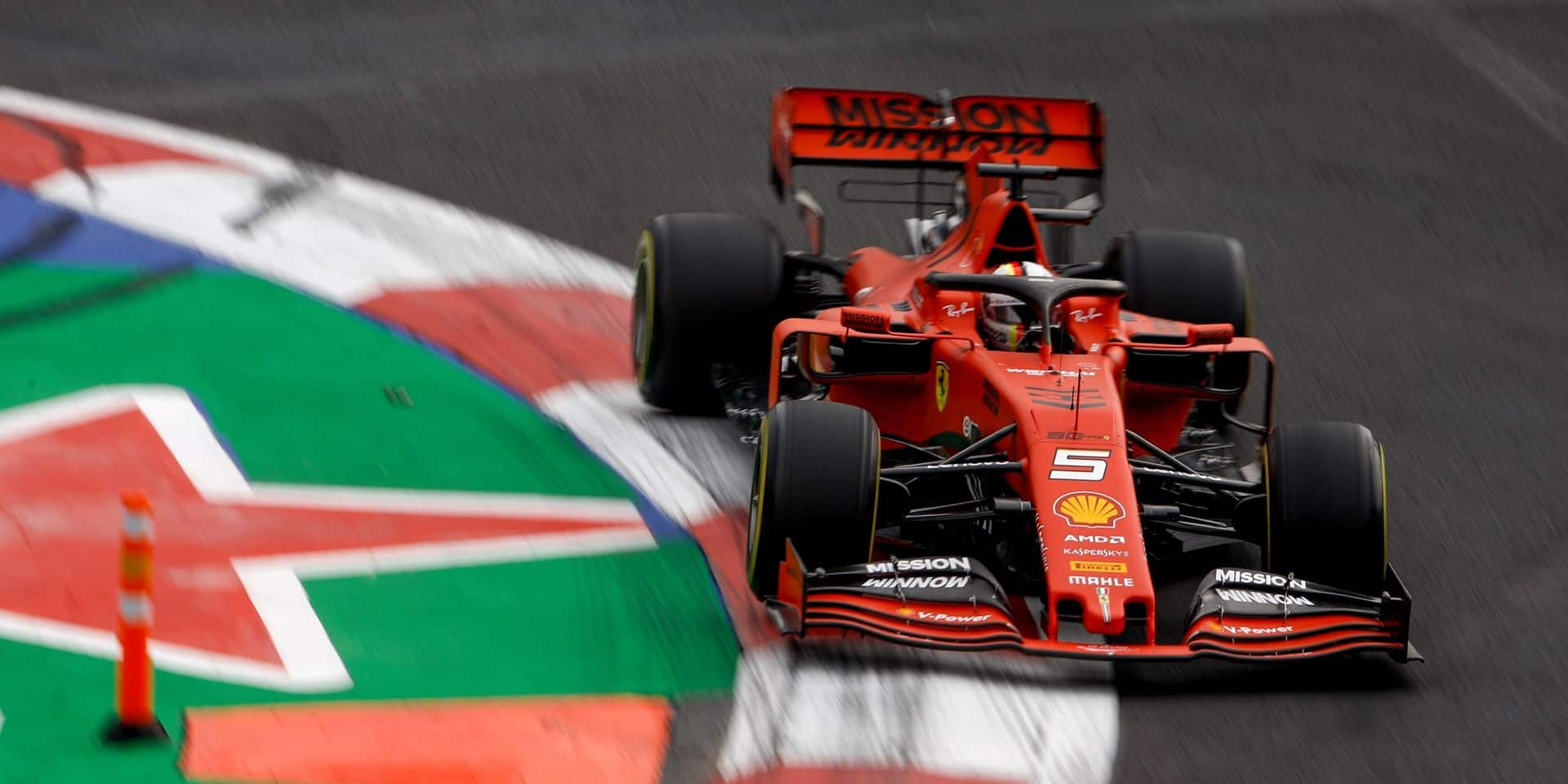 F1 : Vettel le plus rapide lors de la deuxième séance d'essais libres au Mexique