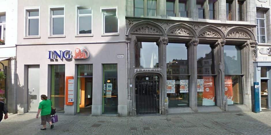 Mons: l'agence ING de la Grand-Place va disparaître en 2020 !