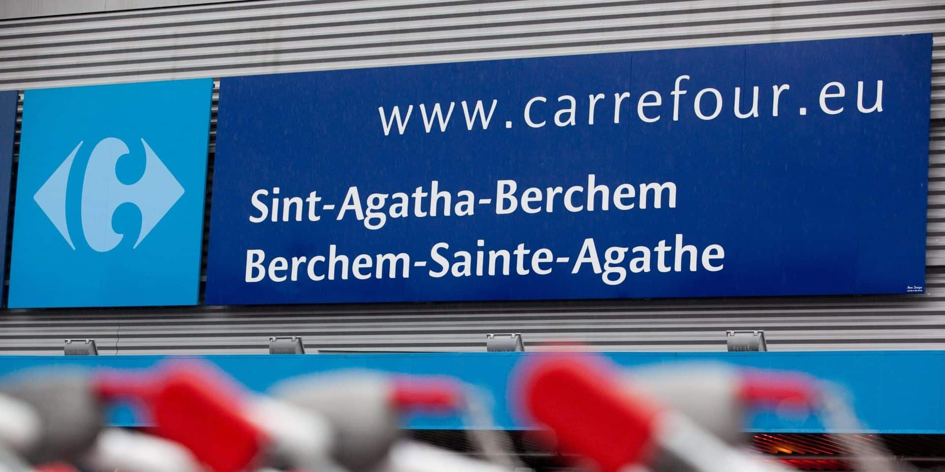 """Du personnel fait grève au Carrefour de Berchem en raison d'agressions par des clients: """"Le phénomène s'amplifie et elles sont de plus en plus graves"""""""