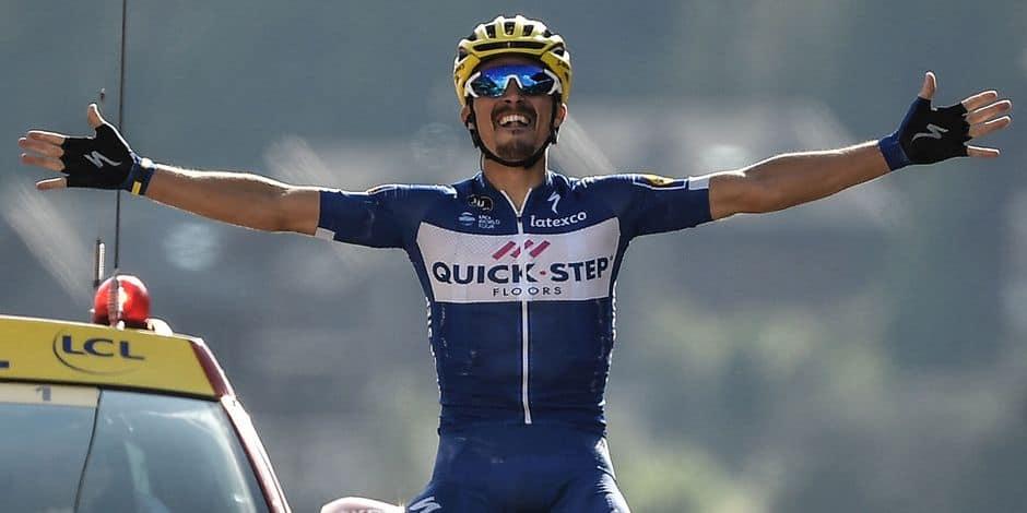 Alaphilippe s'impose, Van Avermaet consolide son maillot jaune — Tour de France