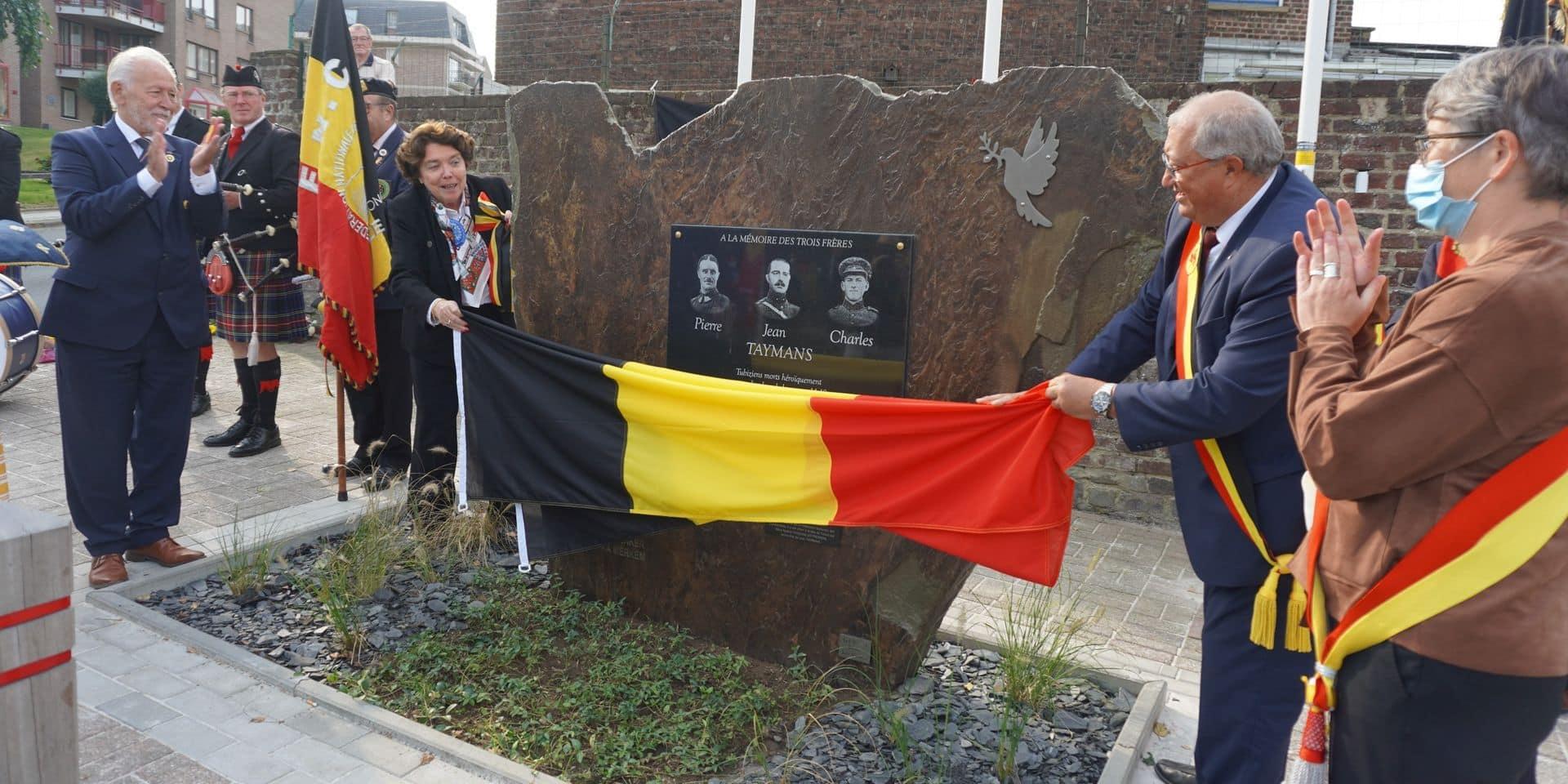 Tubize : inauguration d'une stèle en mémoire des frères Taymans
