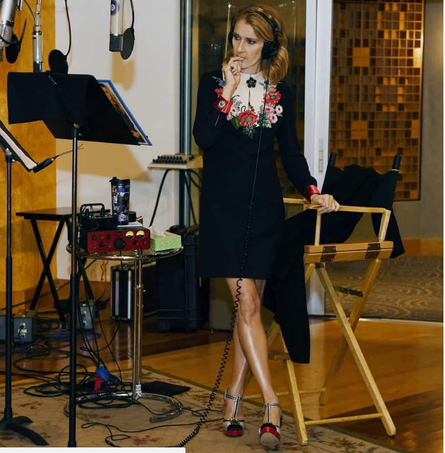 Novembre 2017, Céline de retour en studio