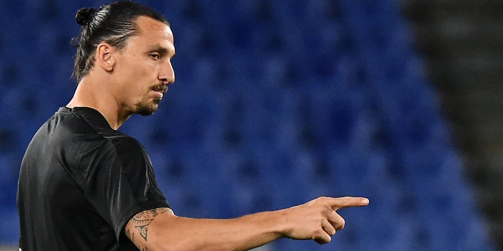 """Zlatan Ibrahimovic répond à ceux qui l'annoncent en fin de carrière: """"Je m'échauffe à peine"""""""