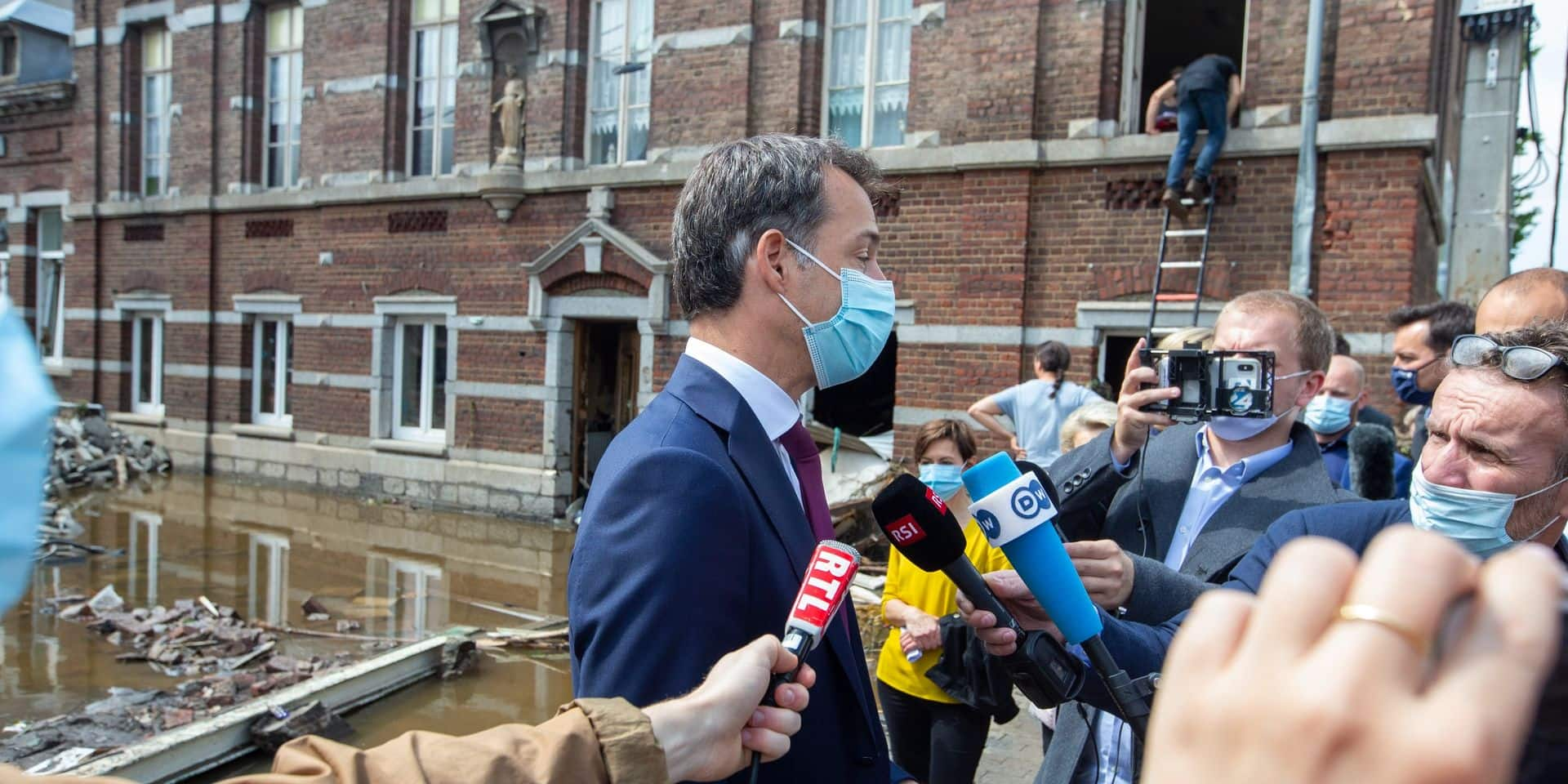 """""""La Belgique va demander l'activation du fonds de solidarité de l'UE"""", annonce De Croo"""