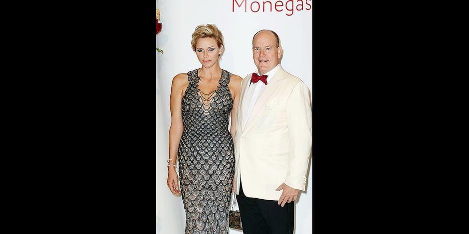 Prince Albert and Princess Charlene of Monaco attend 70th Monaco Red Cross Gala.