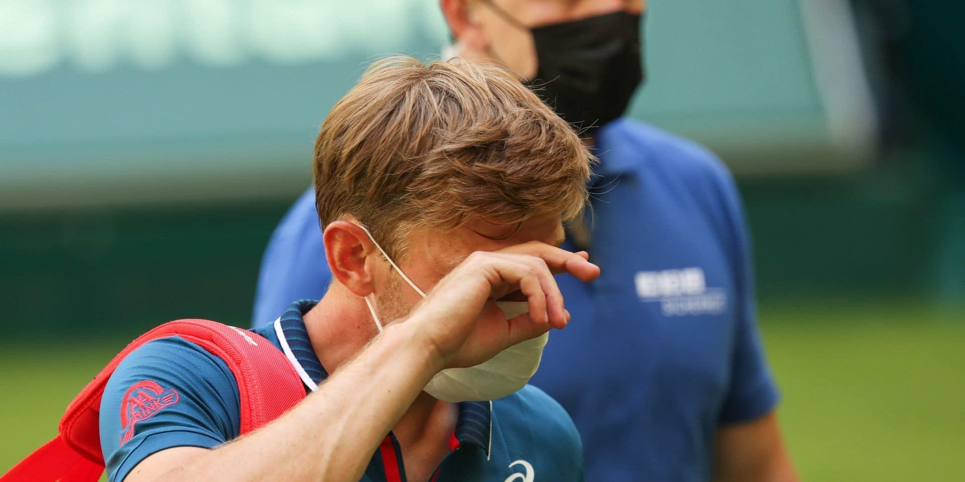 """Après sa chute, Goffin espère être présent à Wimbledon : """"Pas aussi grave qu'à Roland-Garros"""" en 2017"""
