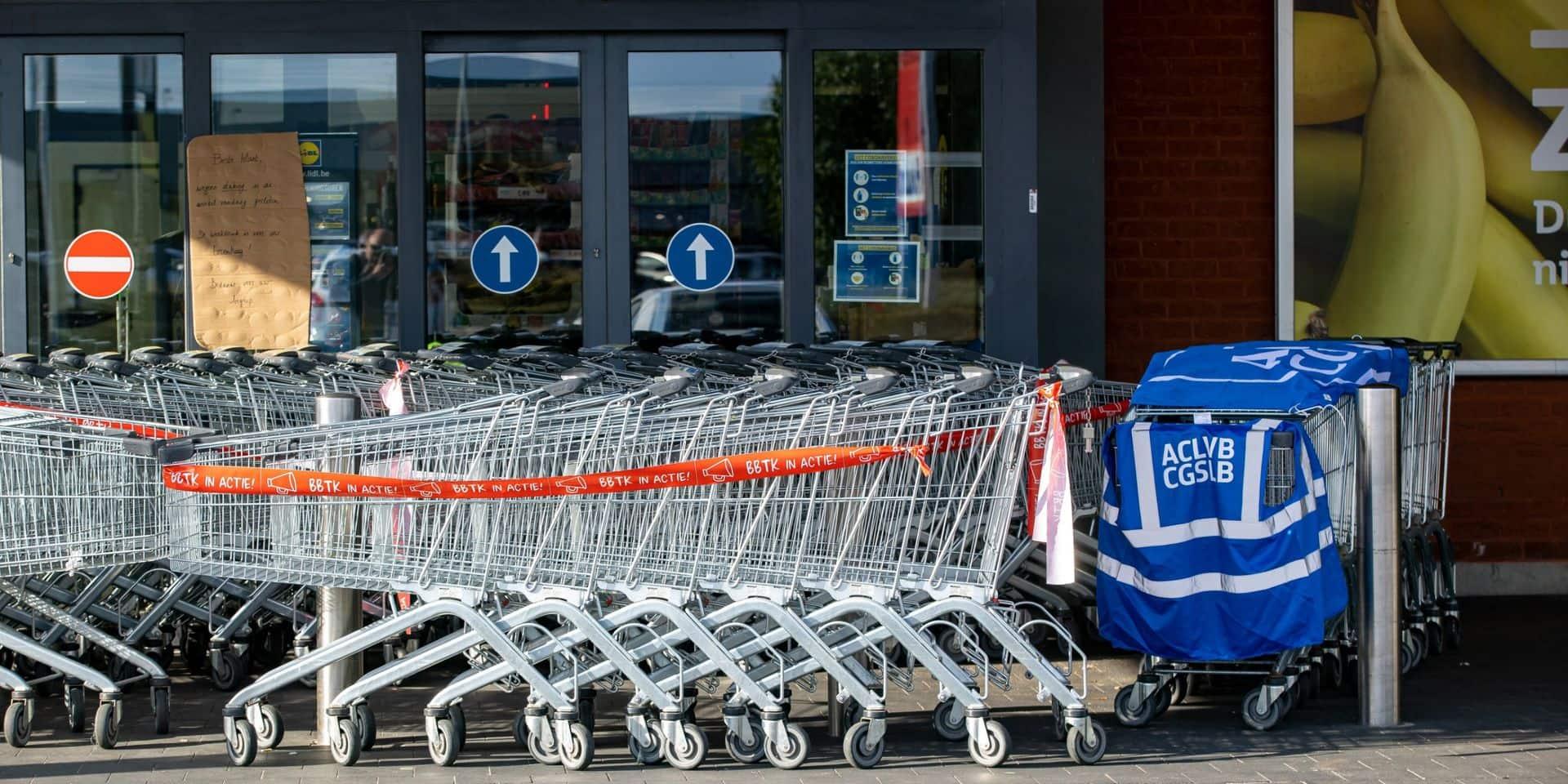 De nombreux magasins Lidl sont encore fermés ce jeudi en raison de grèves: des perturbations à prévoir au moins jusqu'à samedi