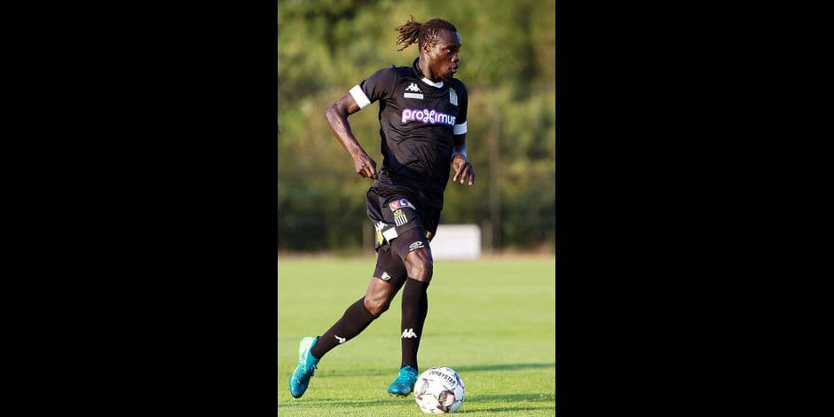 Charleroi's Mamadou Fall pictured in action during a friendly soccer game between Sporting Charleroi and German club 1. FSV Mainz 05, Friday 13 July 2018 in Tegelen, The Netherlands, in preparation of the 2018-2019 season. BELGA PHOTO KRISTOF VAN ACCOM