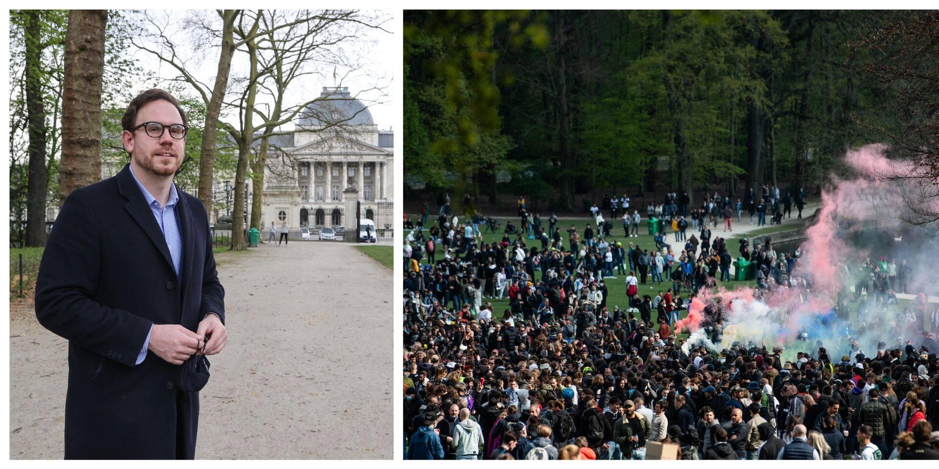 """Le chef de groupe MR de la Ville de Bruxelles réagit à la gestion de la Boum 2 :""""Je regrette que les entrées du Bois n'aient pas été filtrées voire fermées à un moment donné"""","""