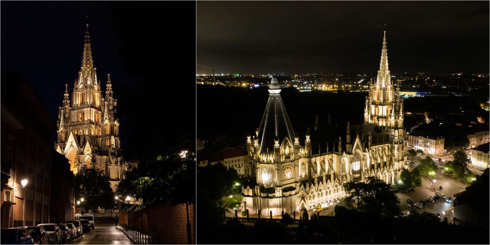 L'Église Notre-Dame de Laeken retrouve sa splendeur nocturne grâce à un nouvel éclairage (photos)