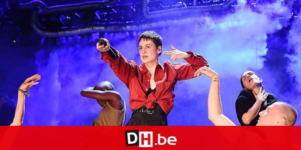 French singer Christine and the Queens performs on stage at the Coachella Valley Music and Arts Festival on April 13, 2019, in Indio, California. (Photo by VALERIE MACON / AFP)