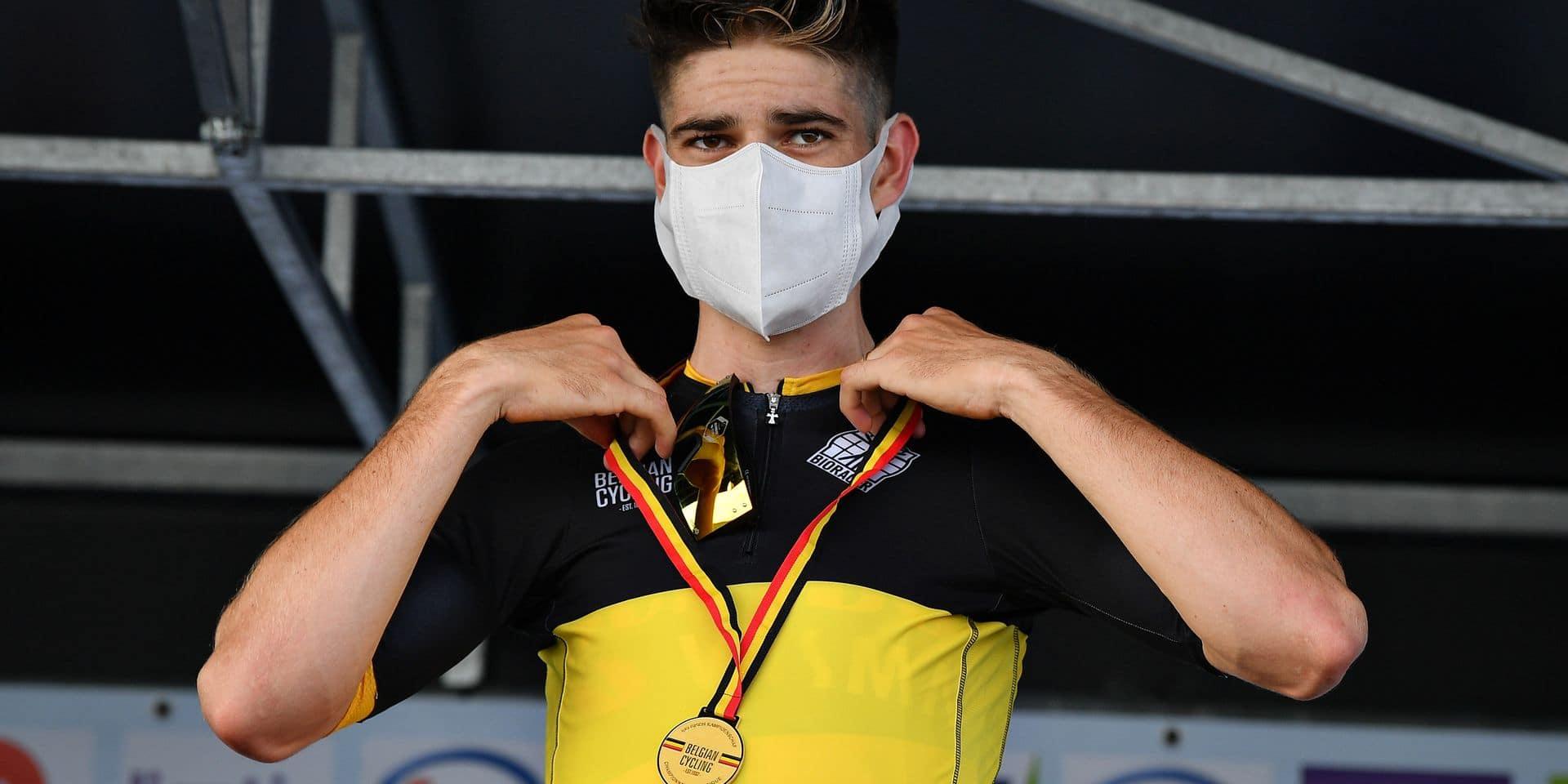 """Après sa victoire au championnat national de chrono, Wout Van Aert est ambitieux pour le Tour de France: """"Gagner aux Champs-Élysées"""""""