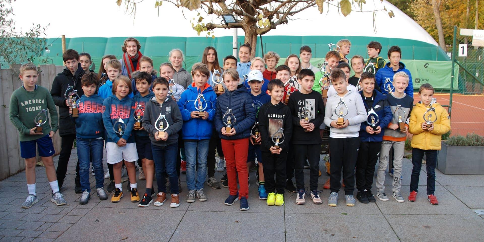 Tennis: Les lauréats du critérium Brabant récompensés