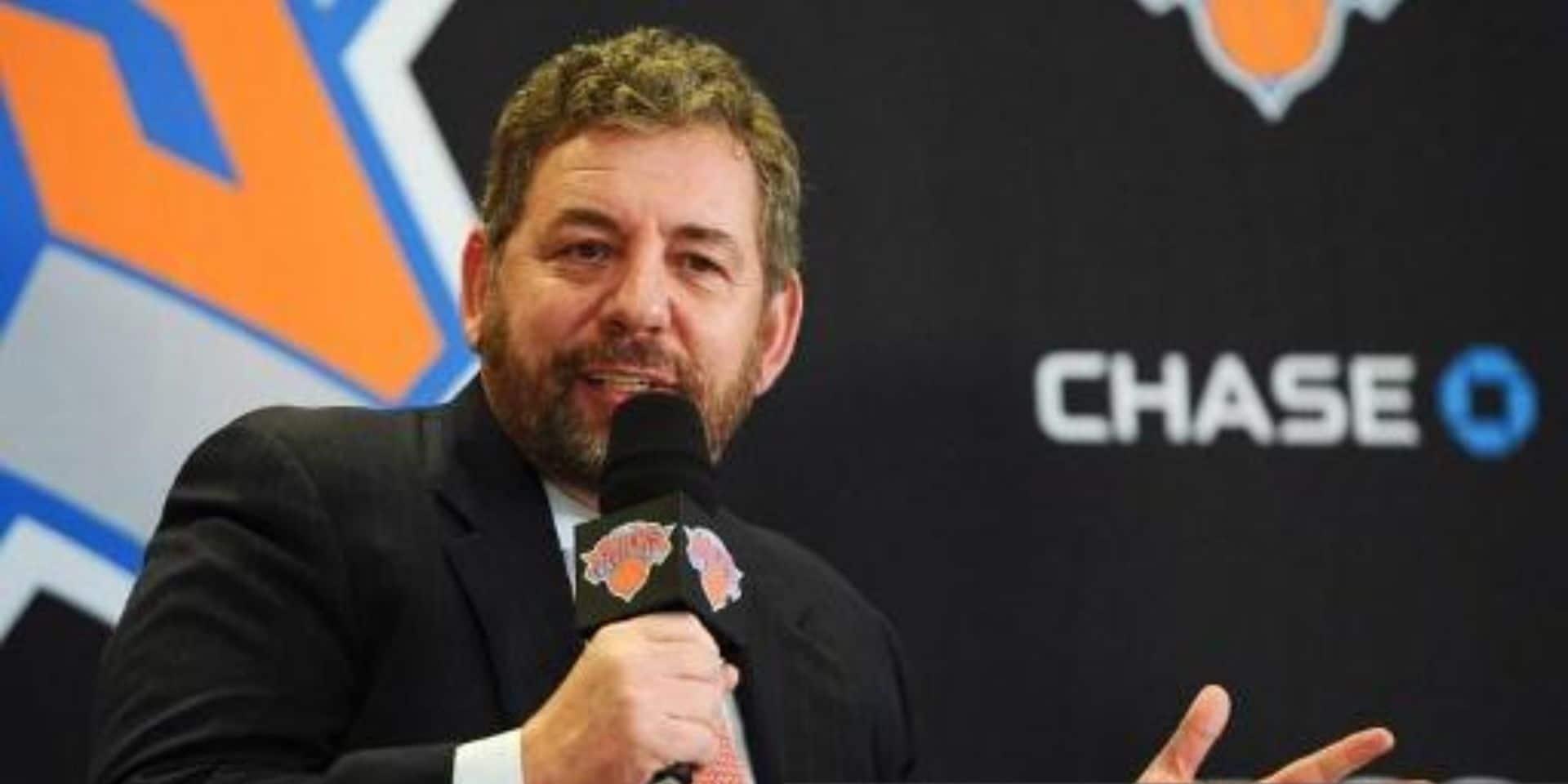 Le patron des New York Knicks positif au coronavirus