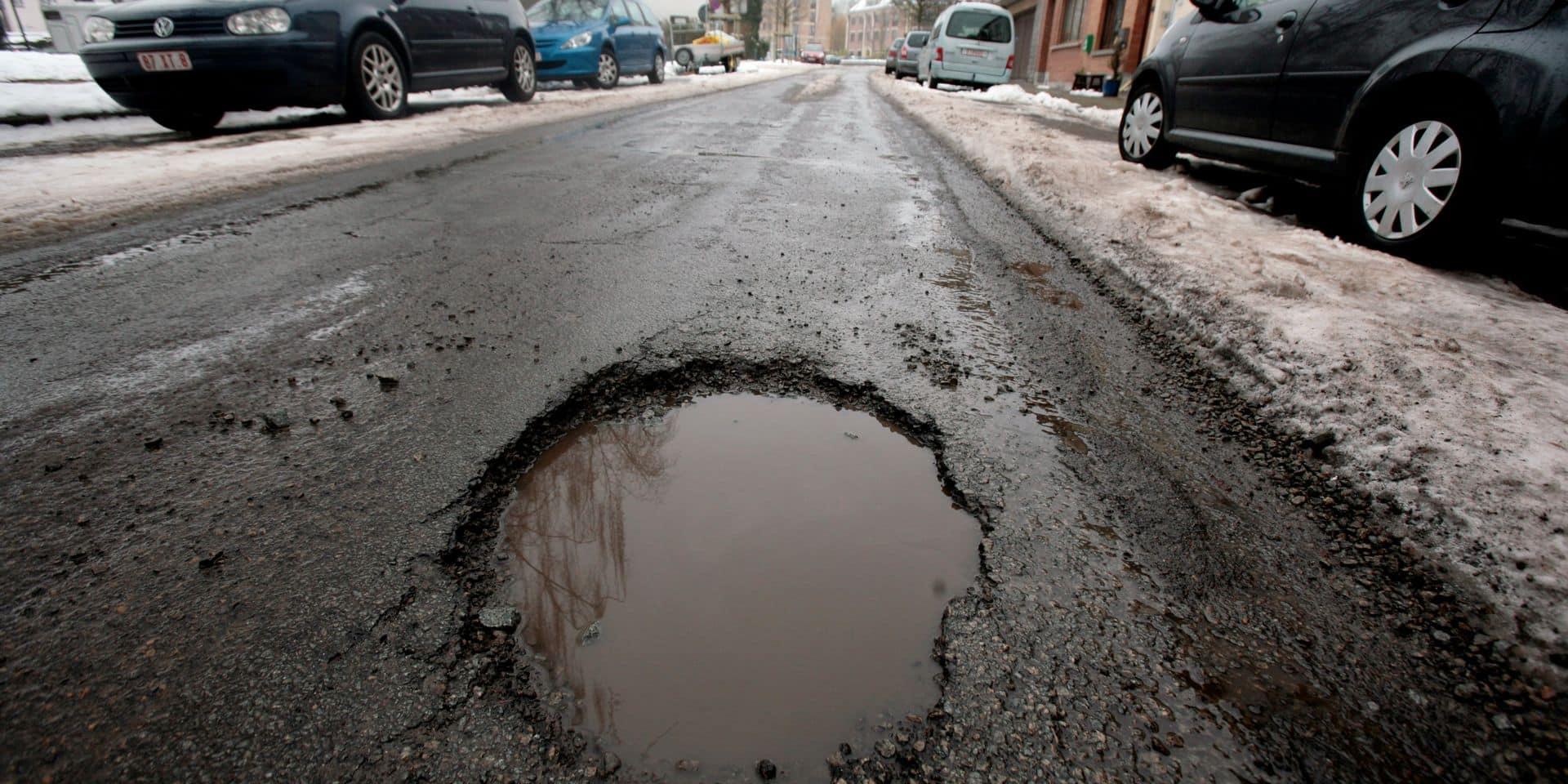 La Belgique à la traine sur l'état des routes: une étude le prouve