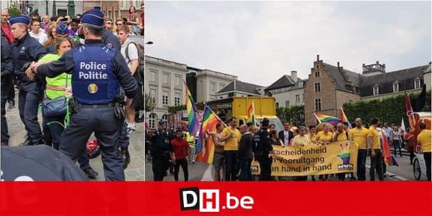 Action anti-N-VA lors de la gay-pride: Zoé Genot parmi les manifestants exclus par la police