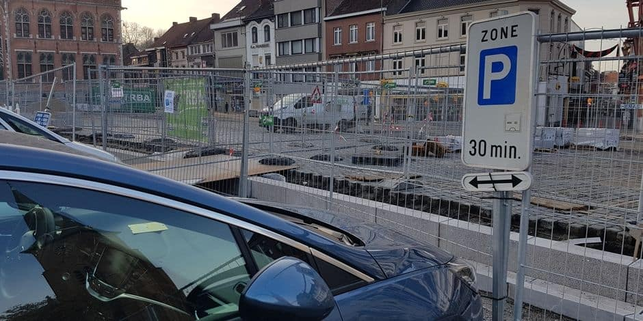 Des modifications de circulation suite aux travaux de la Grand'Place de Mouscron