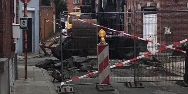 Frameries: un chantier entrepris du mauvais côté du quartier