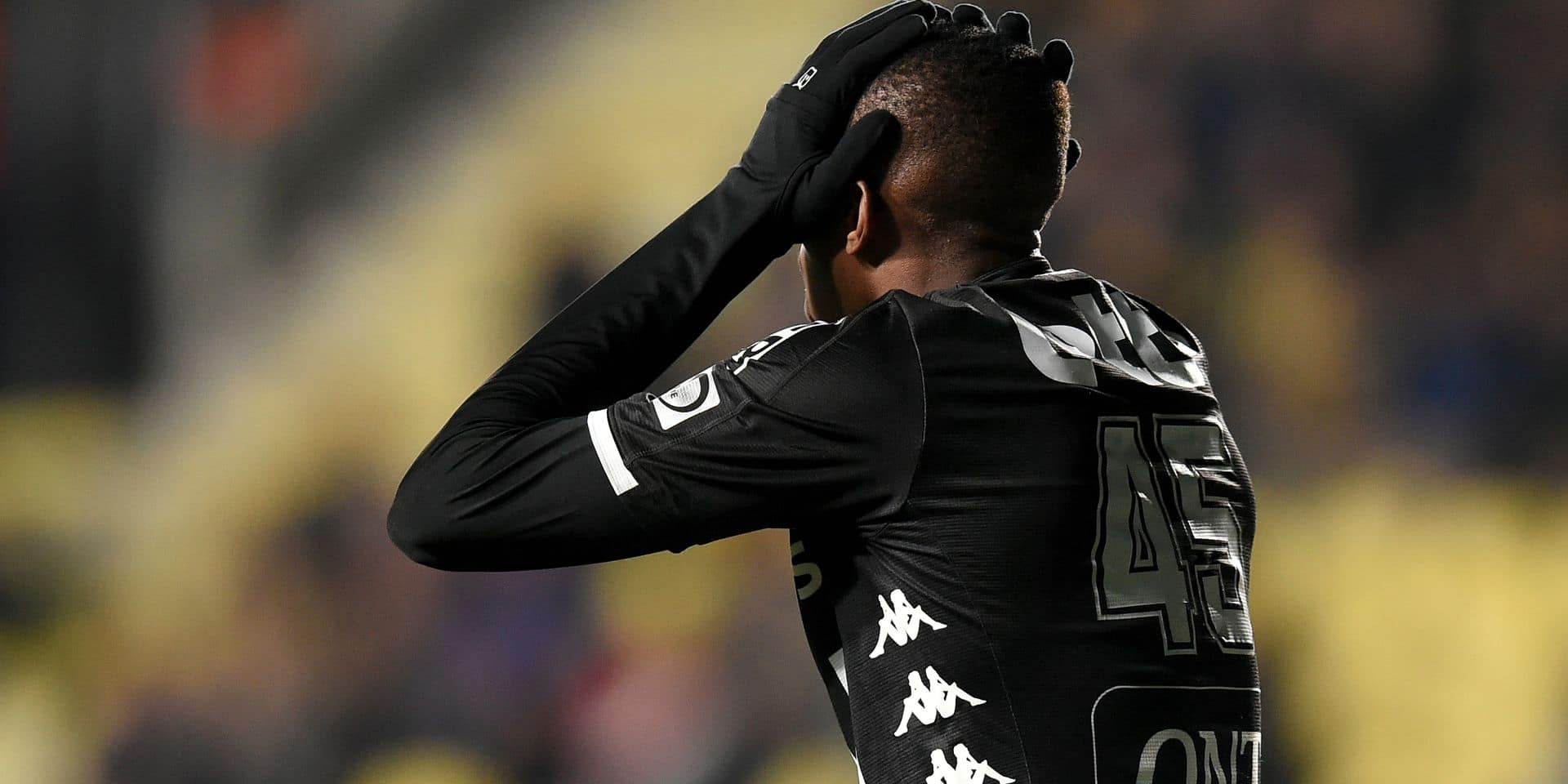 Charleroi's Victor Osimhen reacts during a soccer match between Sint-Truidense VV and Sporting Charleroi, Sunday 24 February 2019 in Sint-Truiden, on the 27th day of the 'Jupiler Pro League' Belgian soccer championship season 2018-2019. BELGA PHOTO YORICK JANSENS
