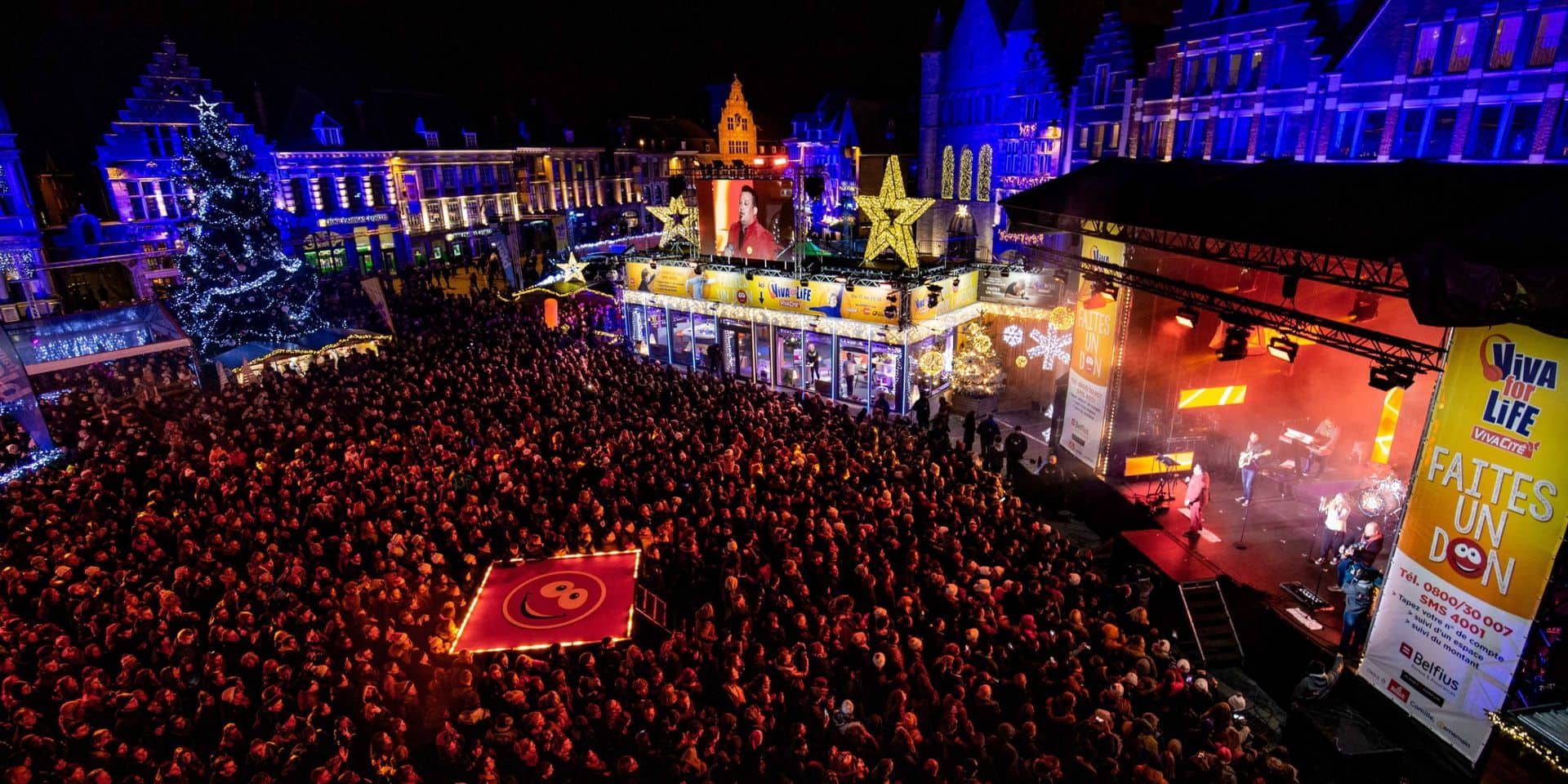 Installation d'un bar central sur la Grand-Place de Tournai durant les fêtes de fin d'année