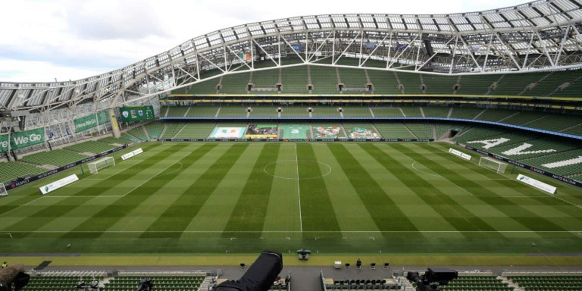 Le gouvernement irlandais ne s'attend pas à pouvoir remplir le stade de Dublin à 25% pour l'Euro 2020