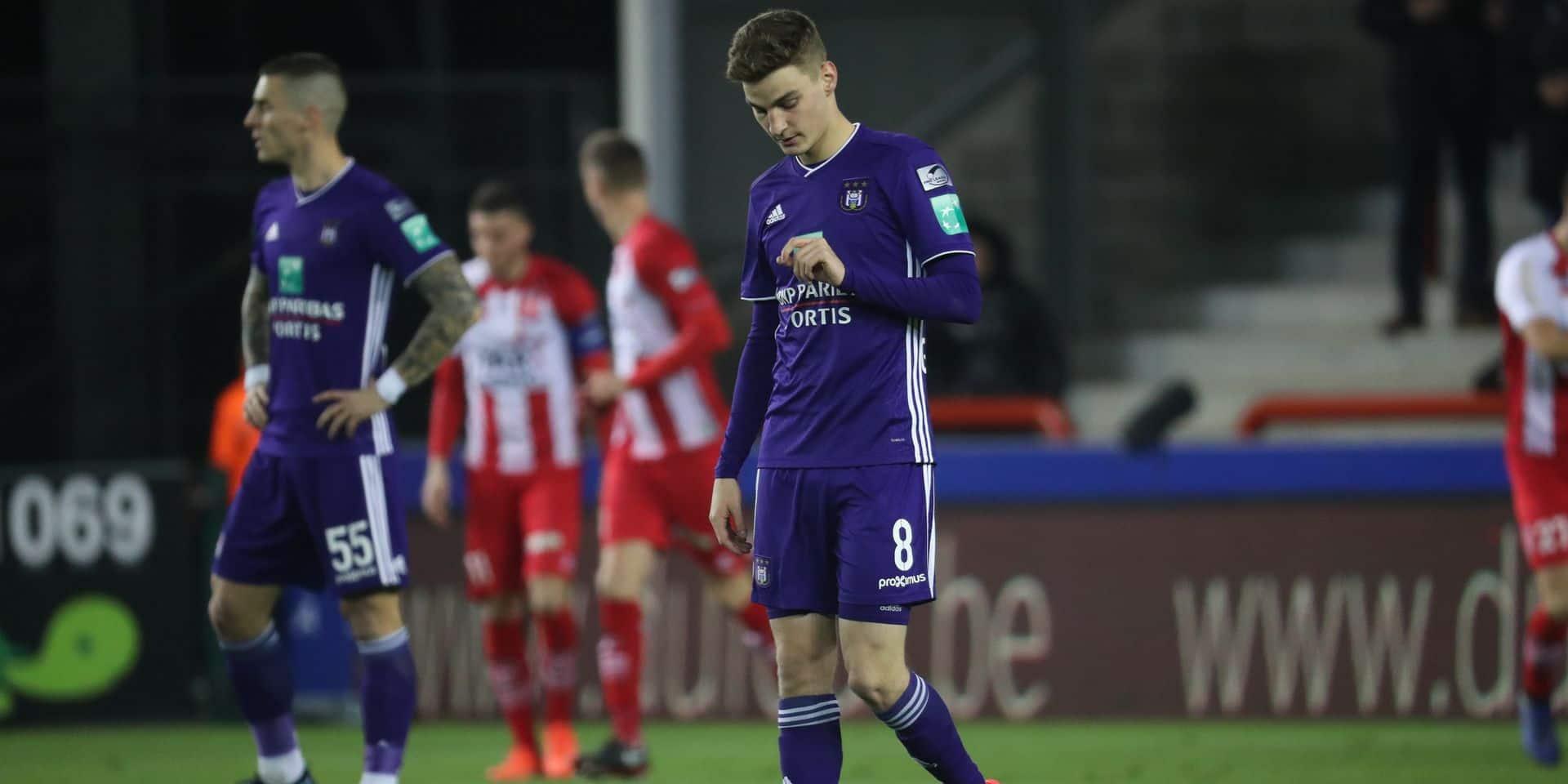 Gerkens invisible, Dimata esseulé : découvrez les notes des joueurs après la victoire de Mouscron face à Anderlecht