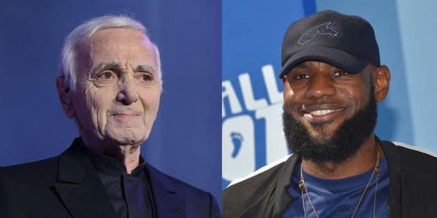 Quand Charles Aznavour envoyait un message à son fan... Lebron James - La DH