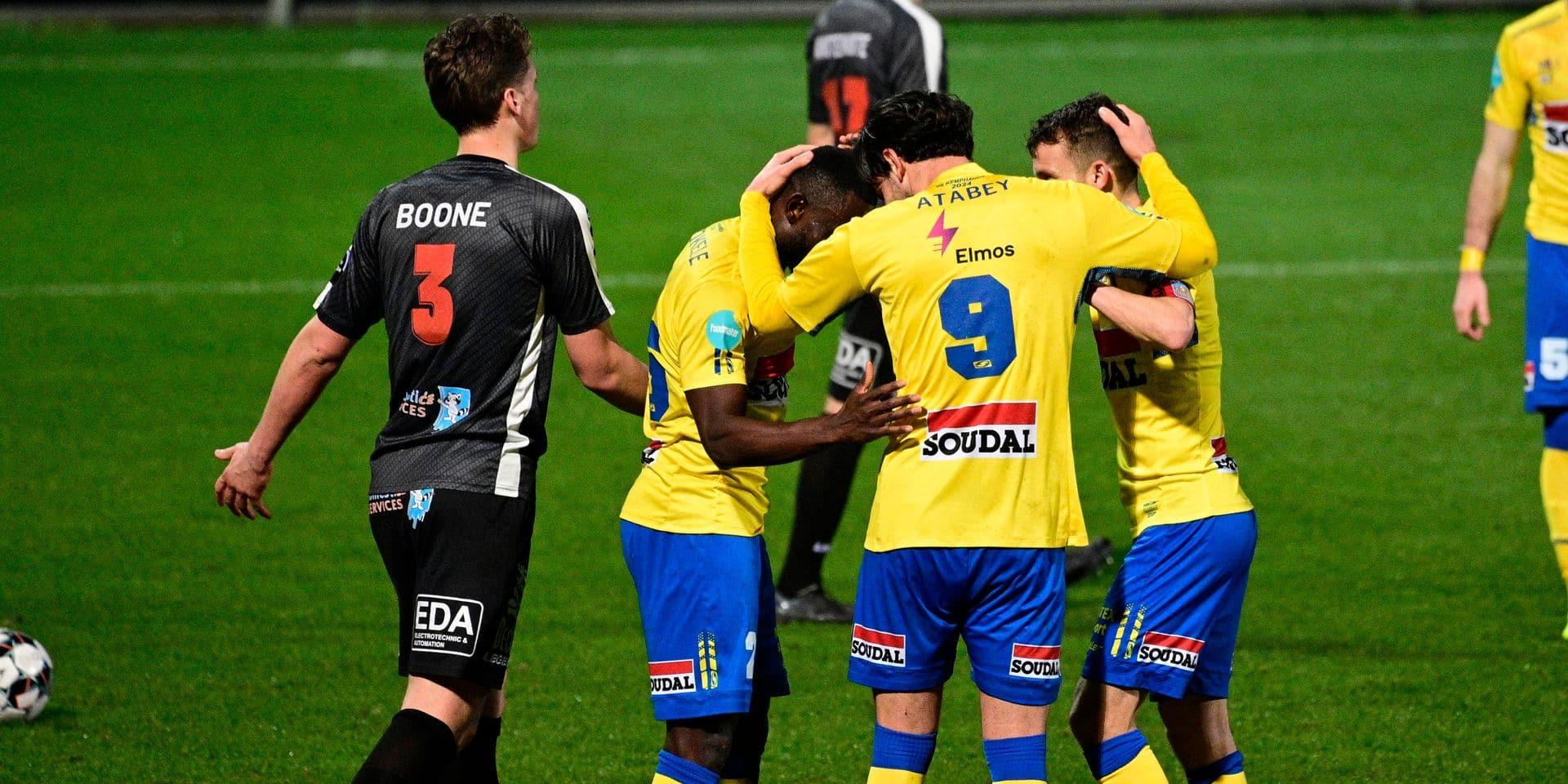 Westerlo s'impose 4-0 contre Deinze et talonne Seraing pour la 2e place