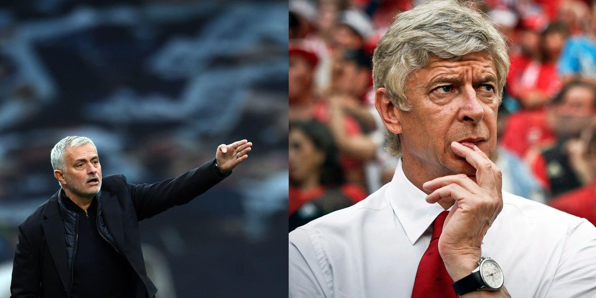 """Jose Mourinho attaque Arsène Wenger... qui lui répond: """"J'ai l'impression d'être un peu à l'école maternelle"""""""