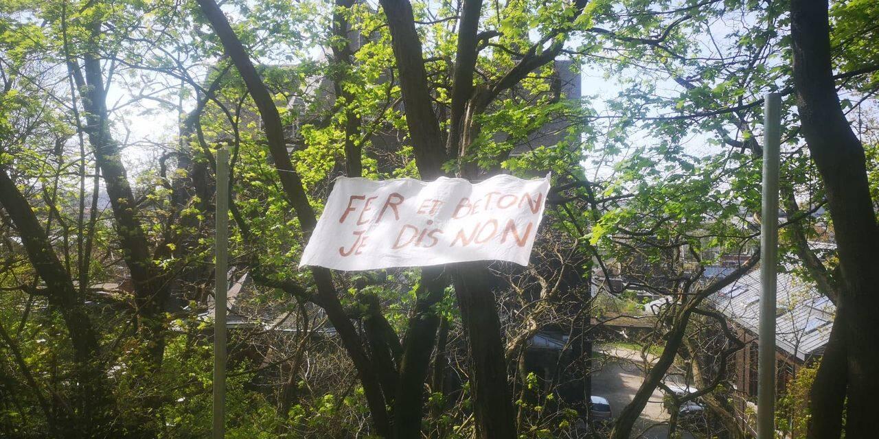 Liège: contre la bétonisation du parc des Oblats !